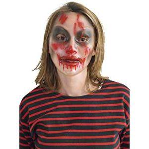 Mascara transparente zombie chica
