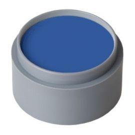 Maquillaje profesional al agua azul