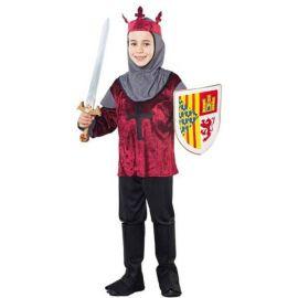 Disfraz cruzado burdeos infantil