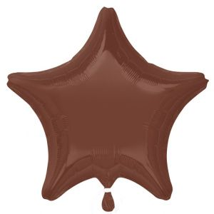 Globo helio estrella chocolate