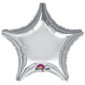 Globo helio estrella jumbo plata