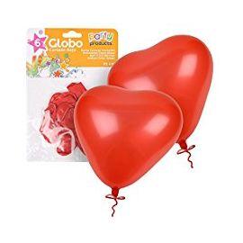 Globos corazon 25 cm 6und
