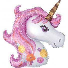 Globo helio unicornio destellos