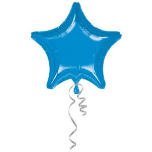 Globo helio estrella jumbo azul metal