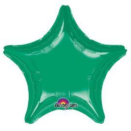 Globo helio estrella jumbo verde