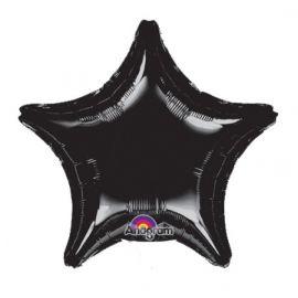 Globo helio estrella jumbo negra
