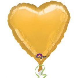 Globo helio corazon oro