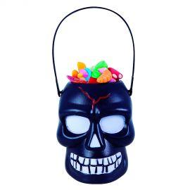 Calabaza porta caramelos negra bis