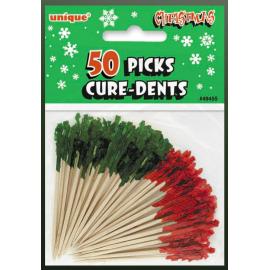 Palillos rojos y verdes 50und