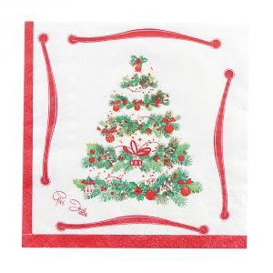 Servilletas arbol de navidad 33x33
