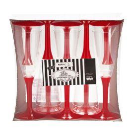 Copas champagne pie rojo 10 und