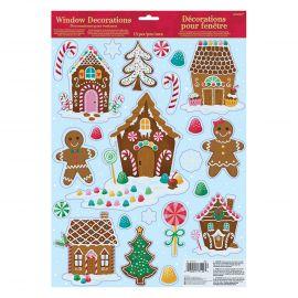 Decoracion ventana galletas de navidad