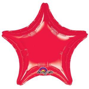 Globo helio estrella jumbo roja