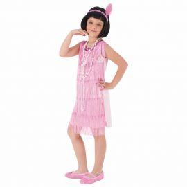 Disfraz charleston rosa inf