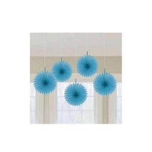 Flores colgantes azul claro pack 5