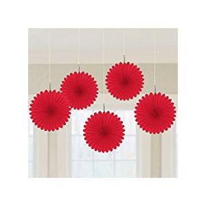 Flores de papel rojas pack 5 und