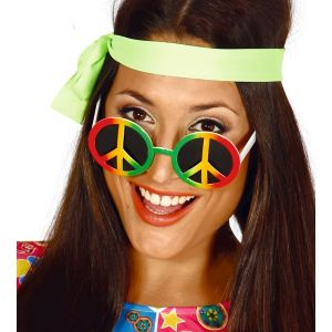 Gafas hippie multicolor paz