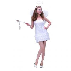 Disfraz angel sencillo adulto con alas