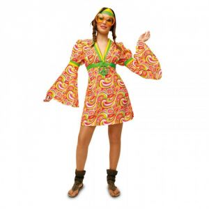 Disfraz hippie flower mujer