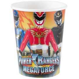 Vasos power ranger pack 8 und