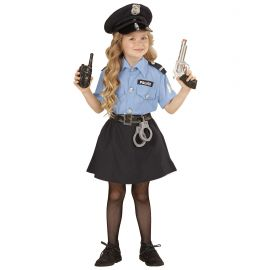 Disfraz policia infantil chica clasico