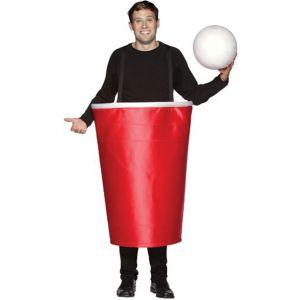 Disfraz vaso de ping pong