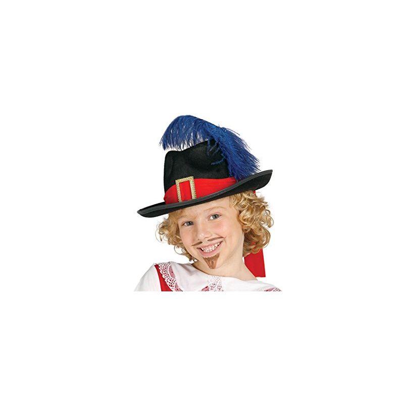 2b6ec100a2532 Sombrero mosquetero negro infantil