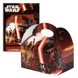 Paquete 4 cajitas star wars