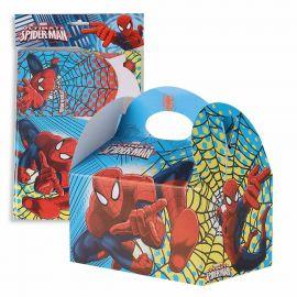 Paquete 4 cajitas spiderman grandes