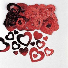 Confetti corazones dos tamaños