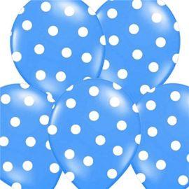 Globos puntos azul claro 12 und