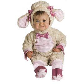 Disfraz bebe ovejita rosa 1-2