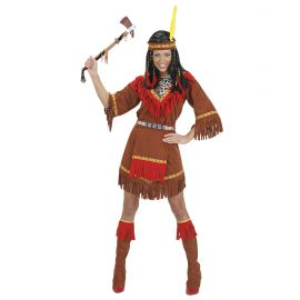 Disfraz india marron deluxe