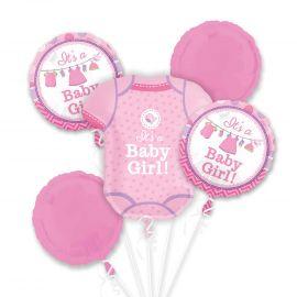 Bouquet globos bebe niña