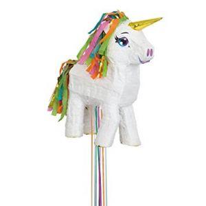 Piñata unicornio blanca