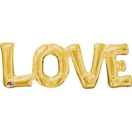 Globo love oro sin helio