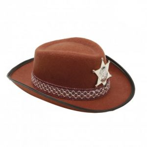 Sombrero vaquero inf marron