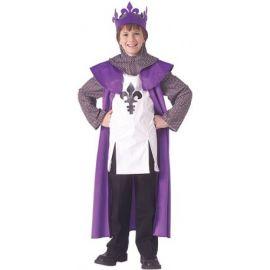Disfraz rey medieval epoca infantil