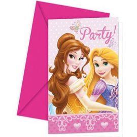 Invitaciones princesas disney deluxe 6 u