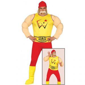 Disfraz luchador amarillo