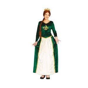 Disfraz reina medieval verde 38/40