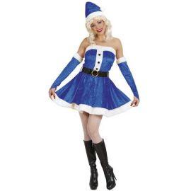 Disfraz miss santa azul