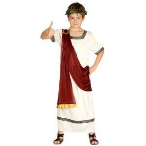 Disfraz romano capa roja infantil