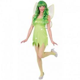 Disfraz hada verde adulta