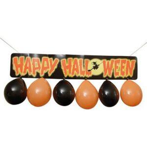 Letrero halloween con 6 globos