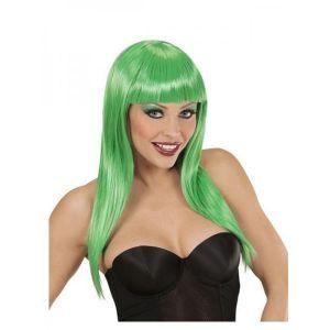 Peluca verde larga
