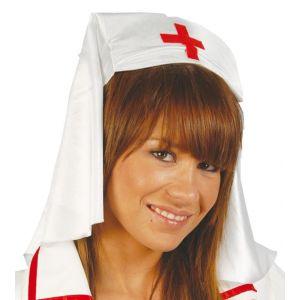Tocado cofia enfermera largo