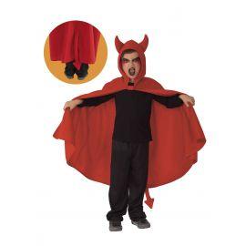 Capa diablo/a infantil