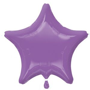 Globo helio estrella lila