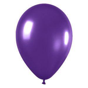 Globo pequeño violeta metal